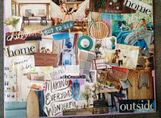 vision board from template for life workshop